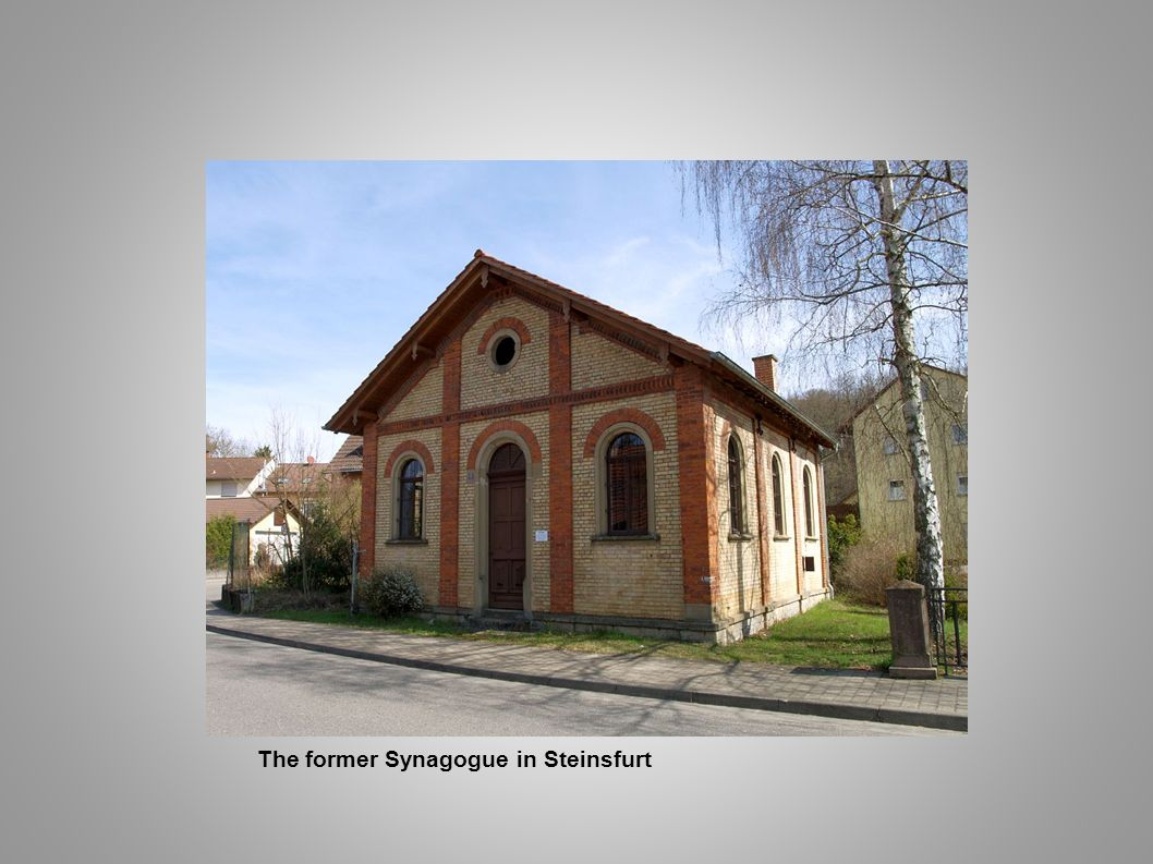 The former Synagogue in Steinsfurt