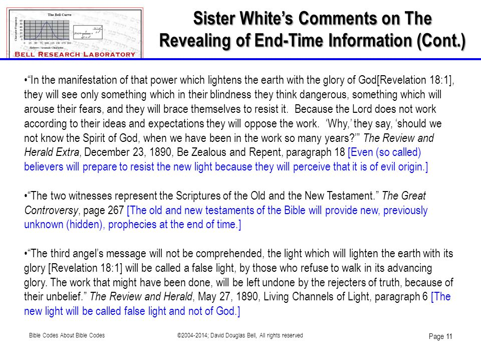 Sister White's Comments on The