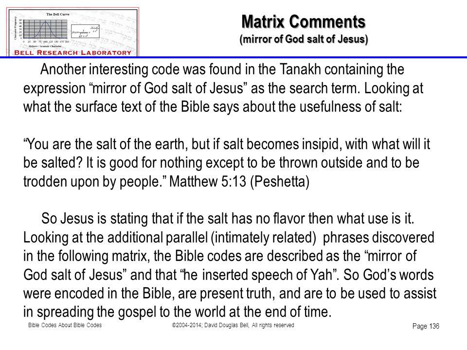 (mirror of God salt of Jesus)