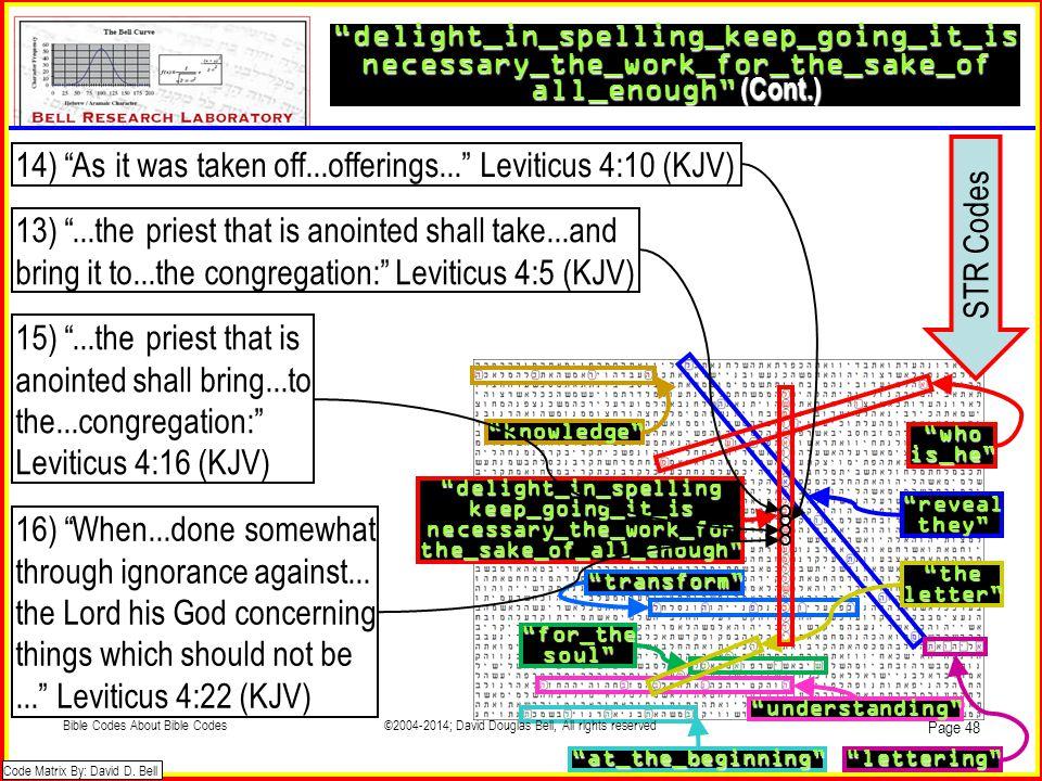 14) As it was taken off...offerings... Leviticus 4:10 (KJV)