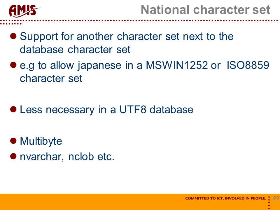 National character set