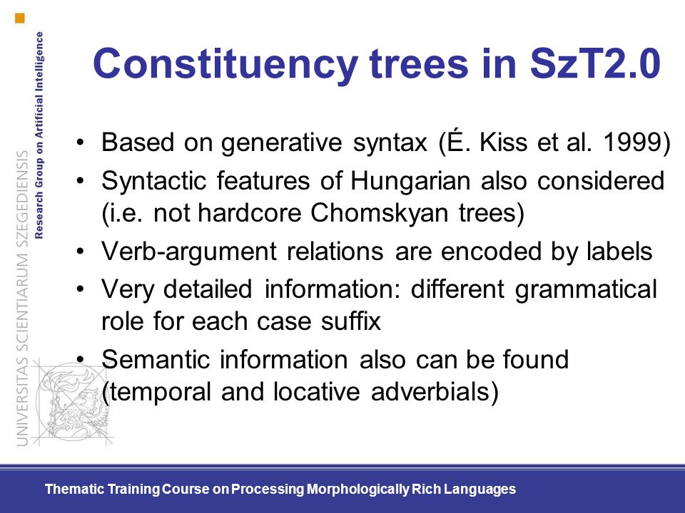 Constituency trees in SzT2.0