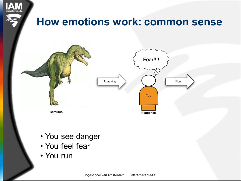 How emotions work: common sense