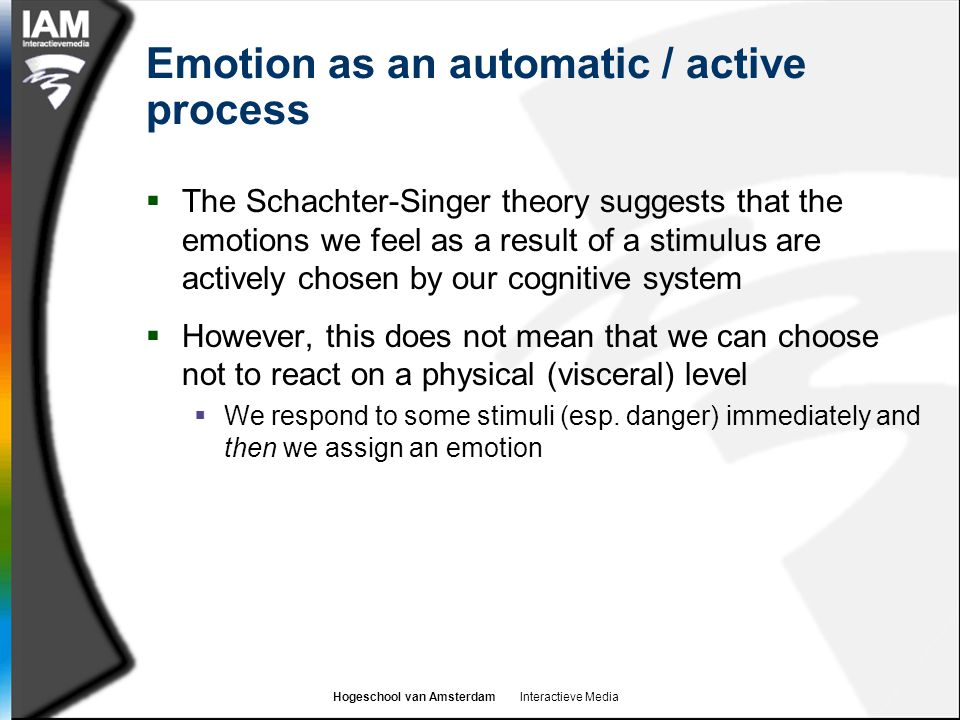 Emotion as an automatic / active process
