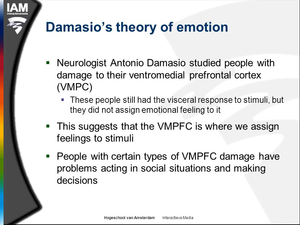 Damasio's theory of emotion