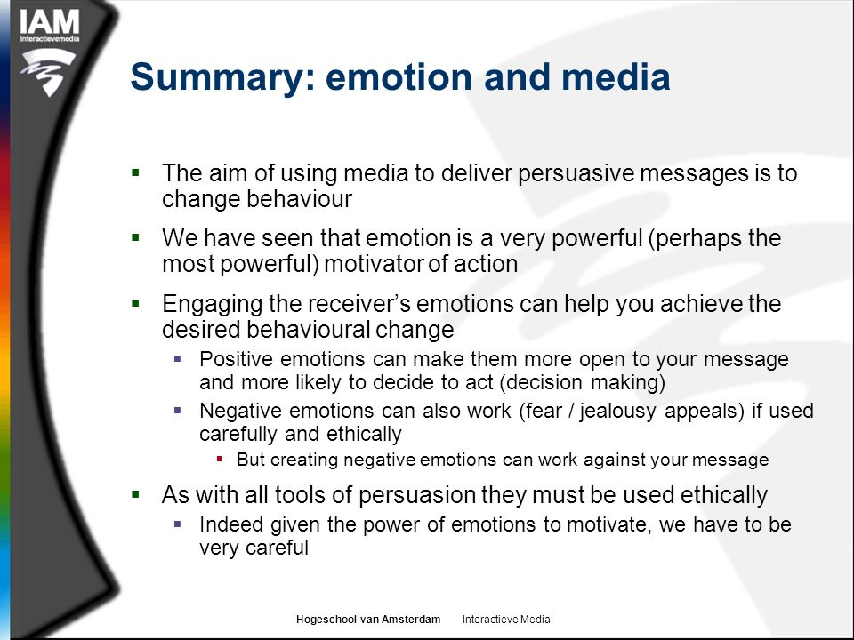 Summary: emotion and media