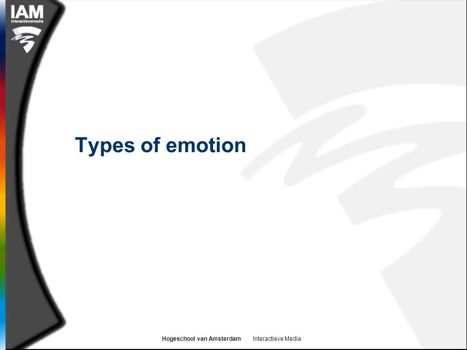 Types of emotion