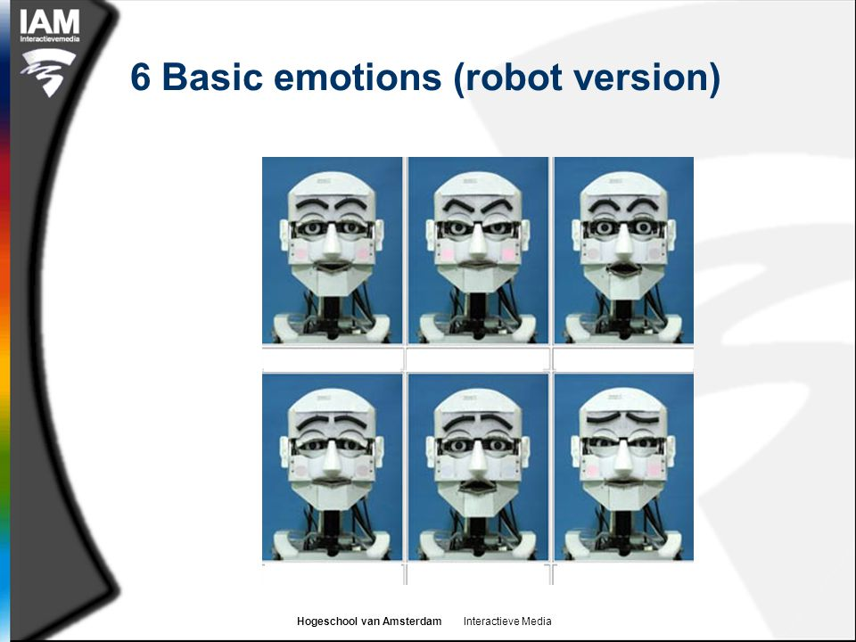 6 Basic emotions (robot version)