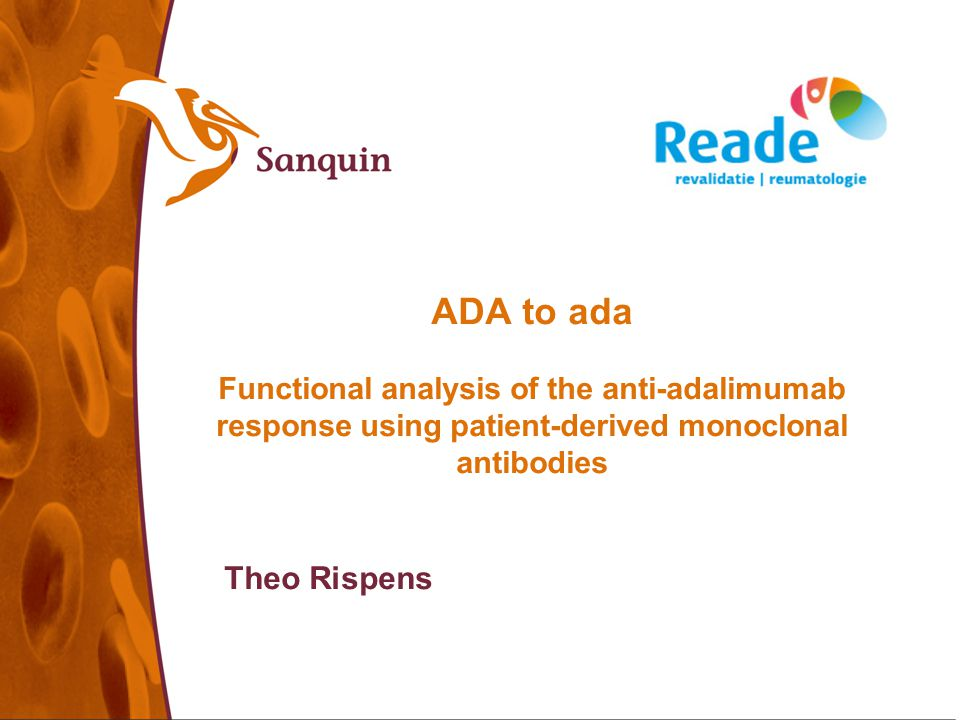 22-09-08 ADA to ada Functional analysis of the anti-adalimumab response using patient-derived monoclonal antibodies.