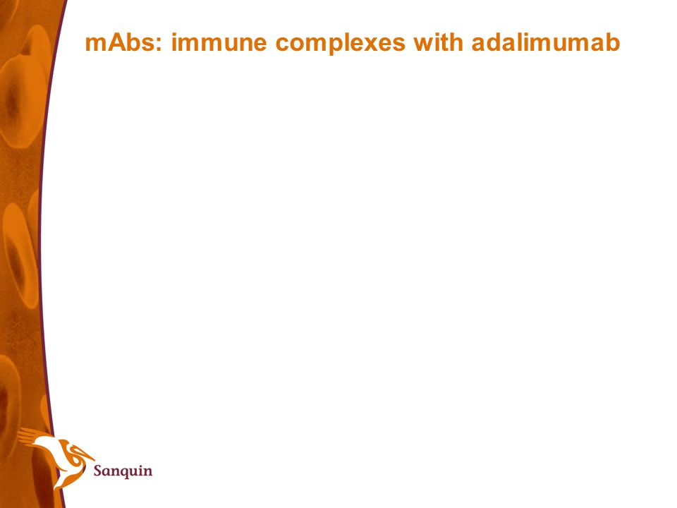mAbs: immune complexes with adalimumab