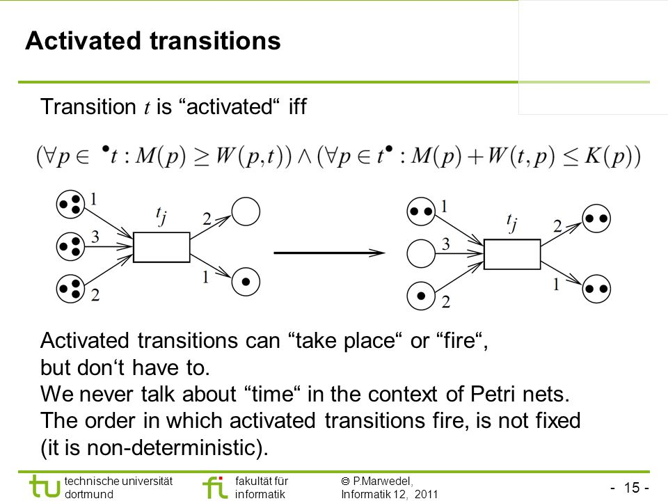 Activated transitions