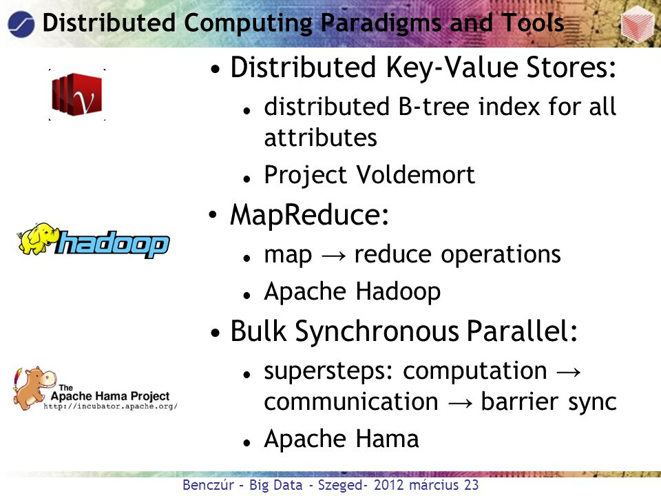 Distributed Computing Paradigms and Tools