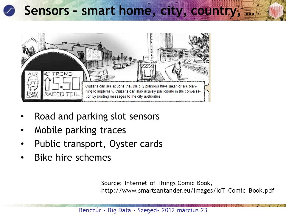 Sensors – smart home, city, country, …
