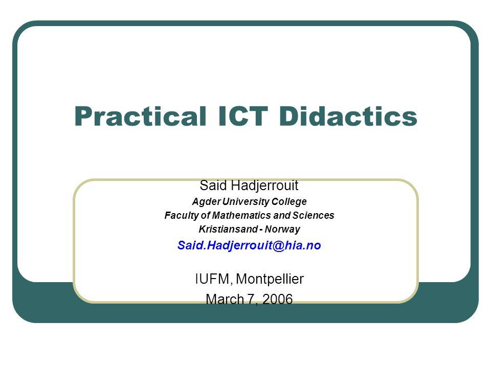 Practical ICT Didactics
