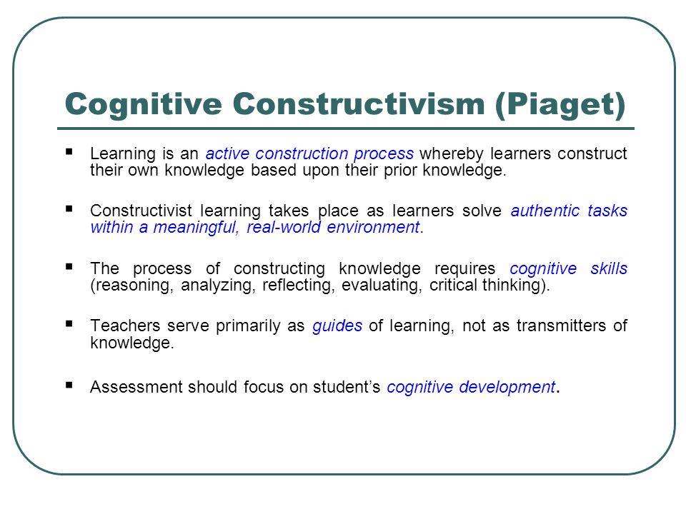 Cognitive Constructivism (Piaget)