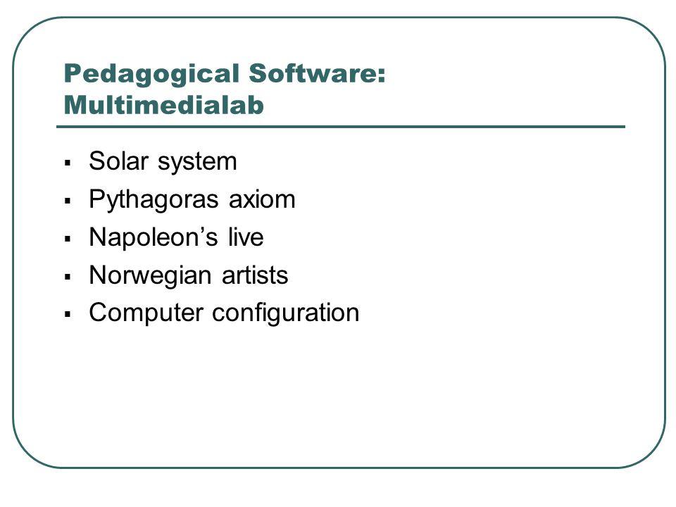 Pedagogical Software: Multimedialab
