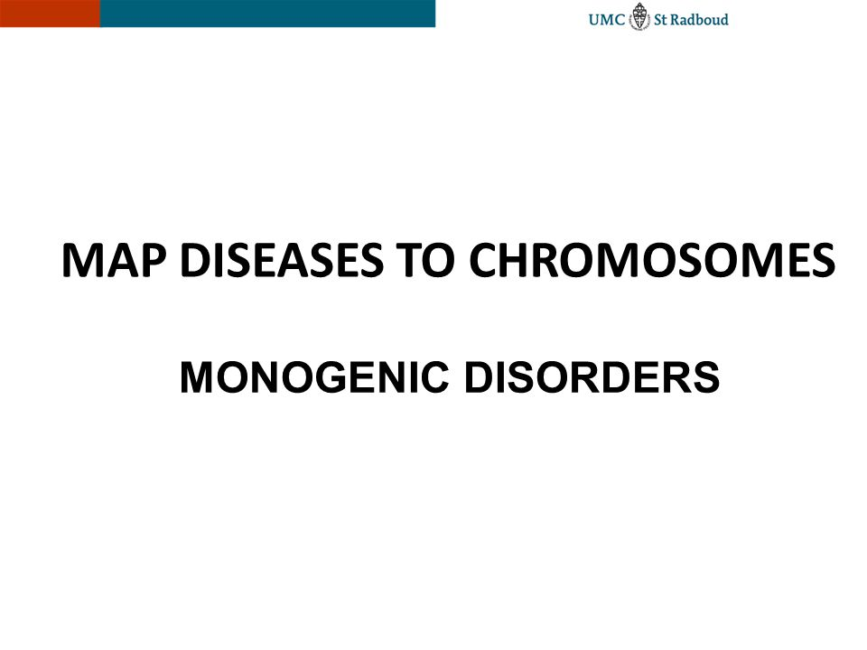 MAP DISEASES TO CHROMOSOMES