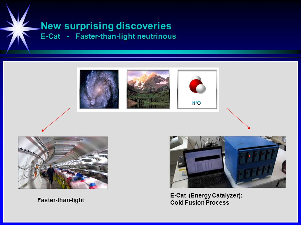 New surprising discoveries E-Cat - Faster-than-light neutrinous