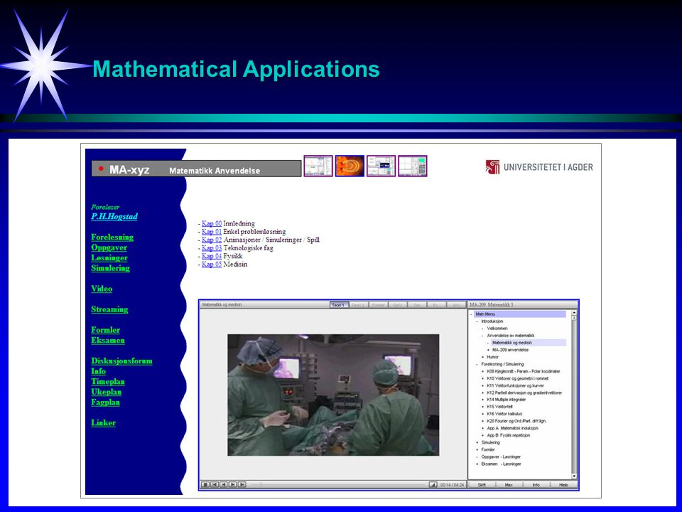 Mathematical Applications