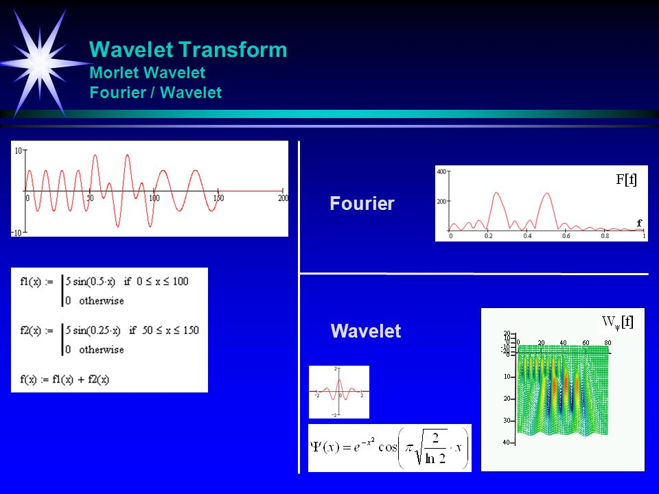 Wavelet Transform Morlet Wavelet Fourier / Wavelet