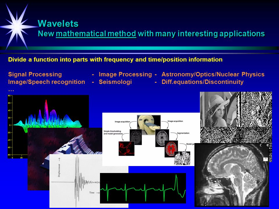 Wavelets New mathematical method with many interesting applications