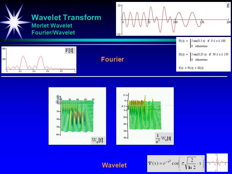 Wavelet Transform Morlet Wavelet Fourier/Wavelet
