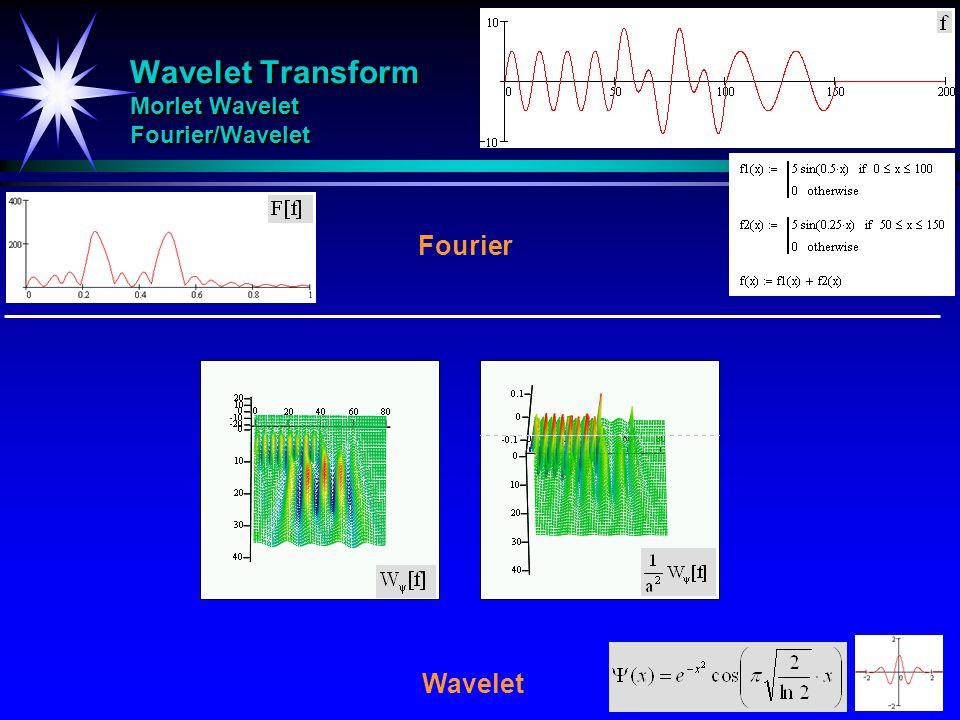Wavelet Transform Morlet Wavelet Fourier/Wavelet