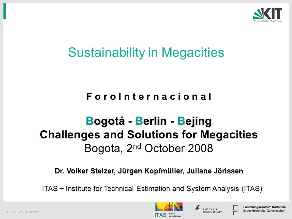 Sustainability in Megacities