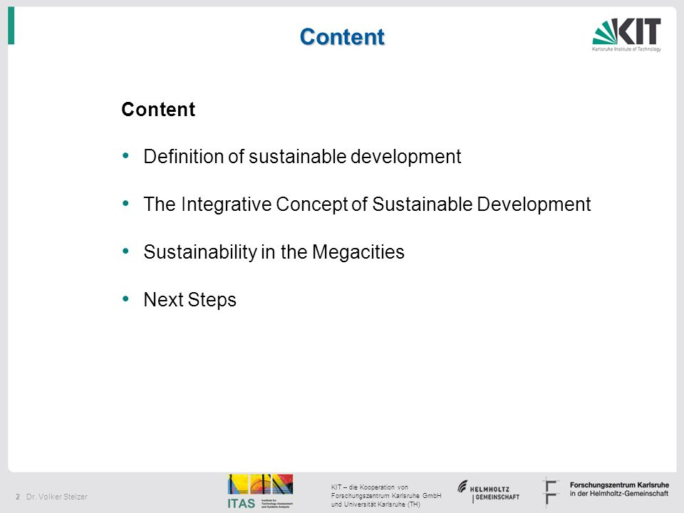 Content Content Definition of sustainable development