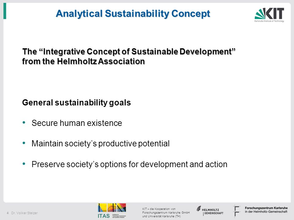 Analytical Sustainability Concept