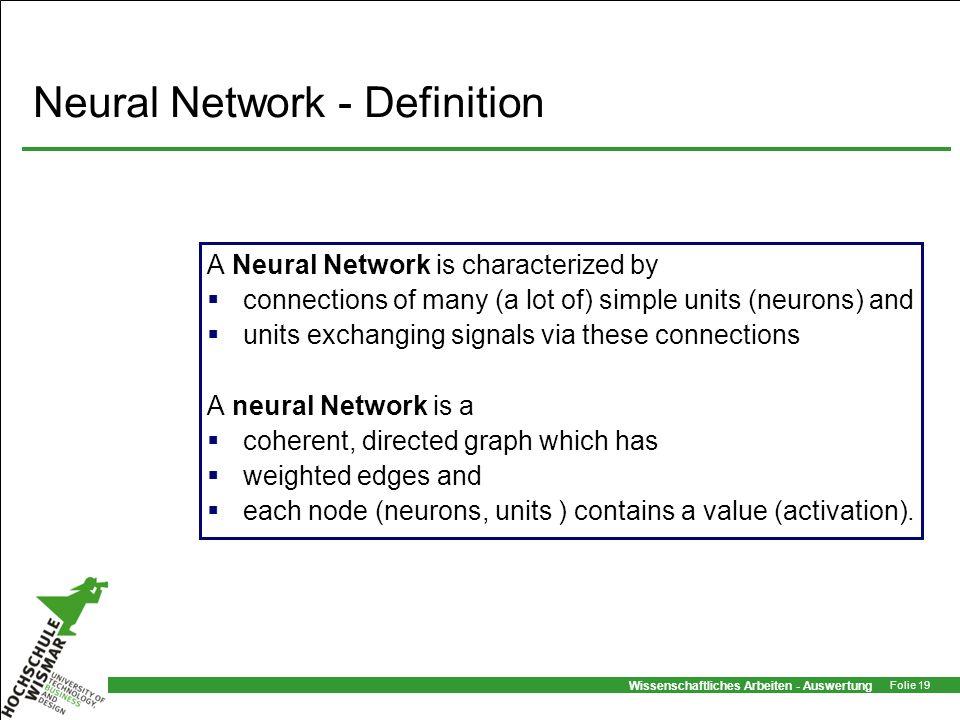 Neural Network - Definition