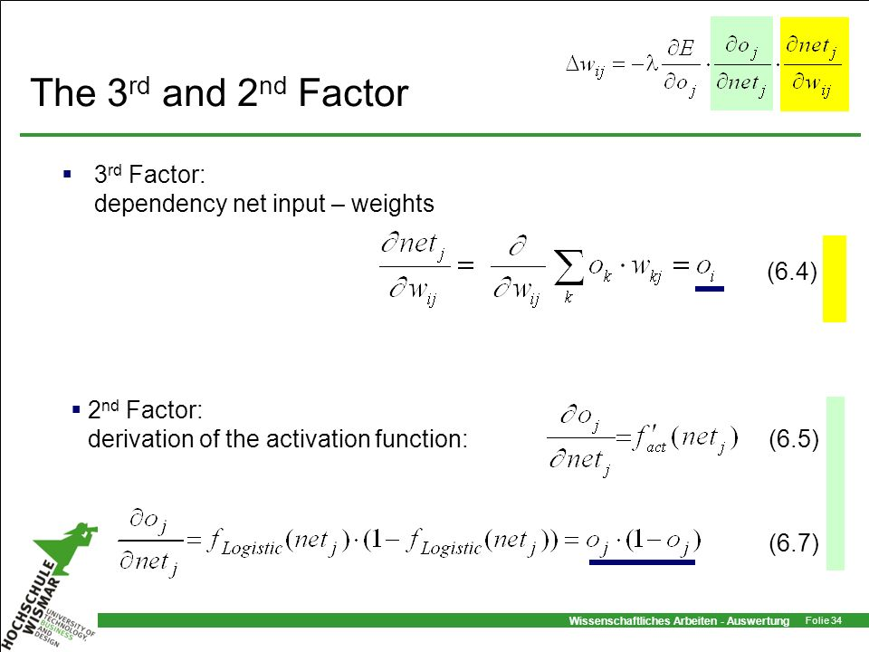 The 3rd and 2nd Factor 3rd Factor: dependency net input – weights