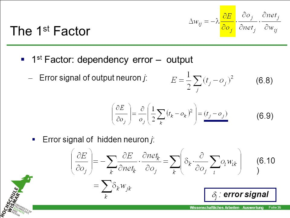 The 1st Factor 1st Factor: dependency error – output