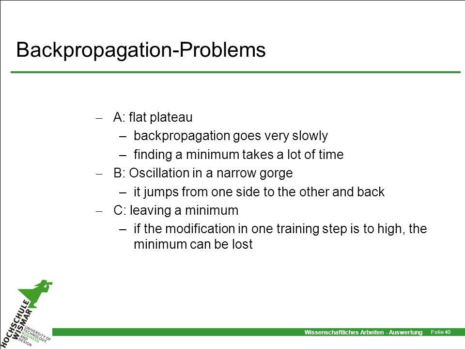 Backpropagation-Problems