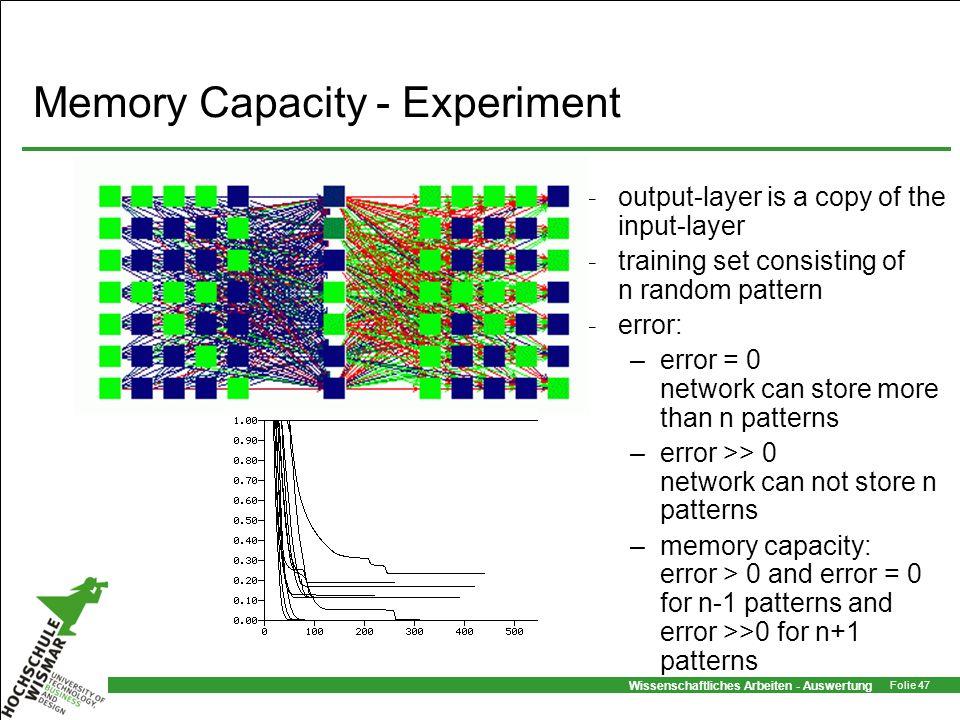 Memory Capacity - Experiment