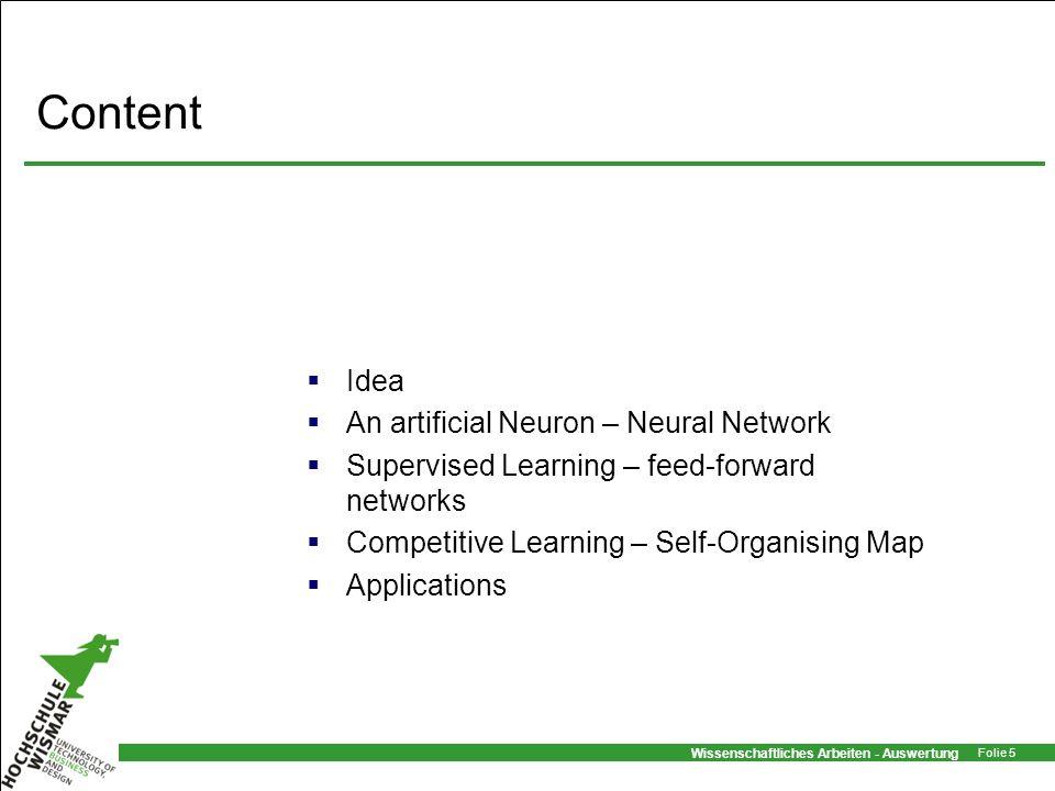 Content Idea An artificial Neuron – Neural Network