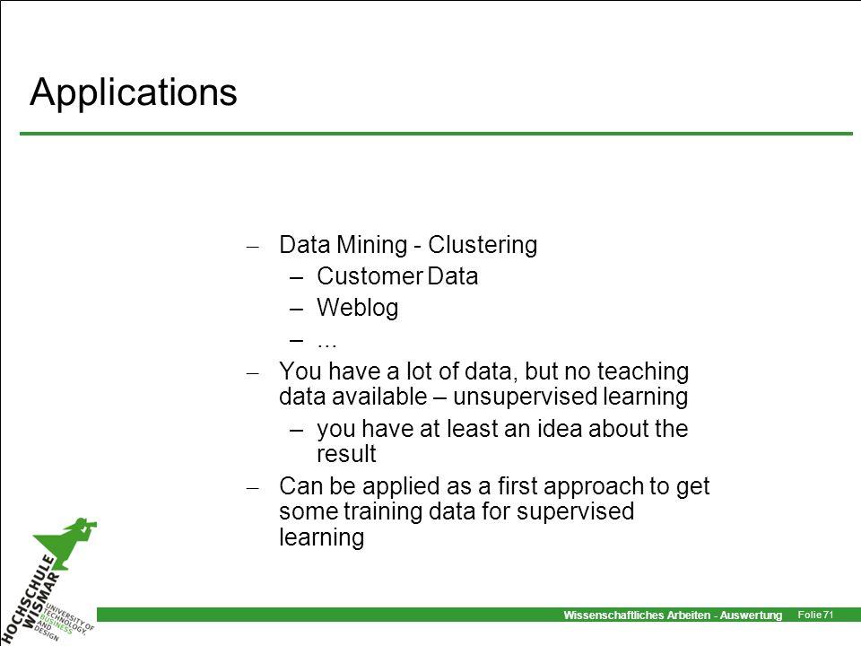 Applications Data Mining - Clustering Customer Data Weblog ...