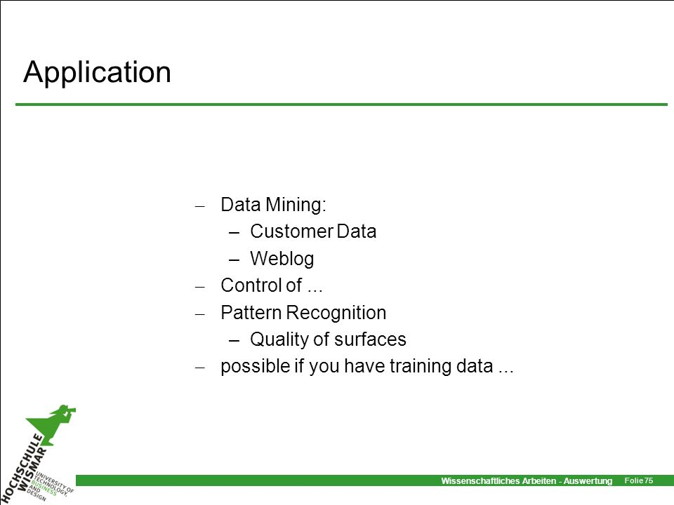 Application Data Mining: Customer Data Weblog Control of ...