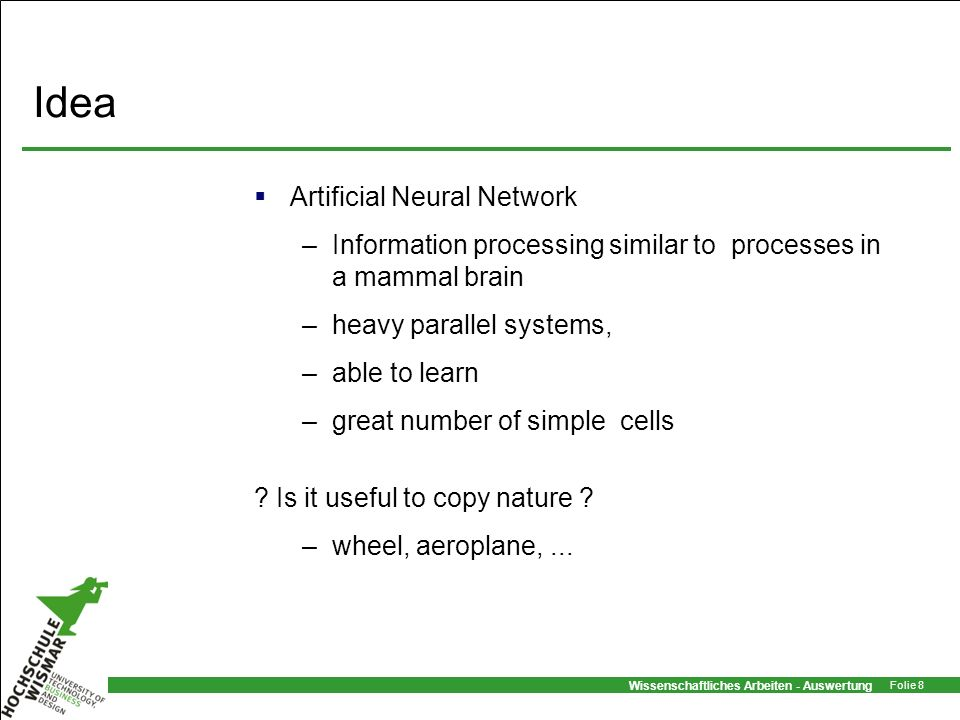Idea Artificial Neural Network