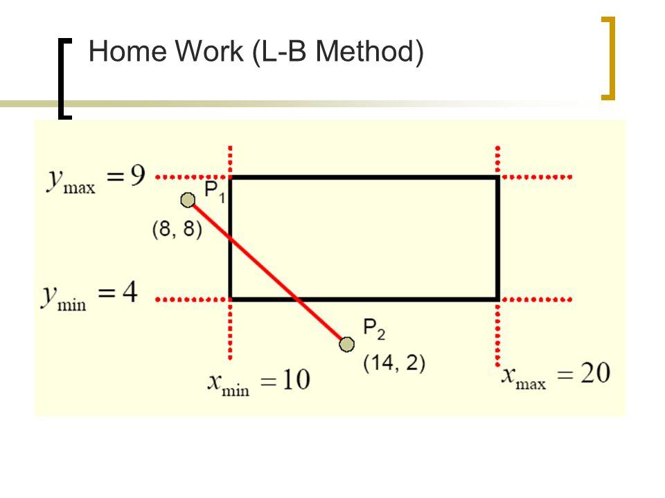 Home Work (L-B Method)