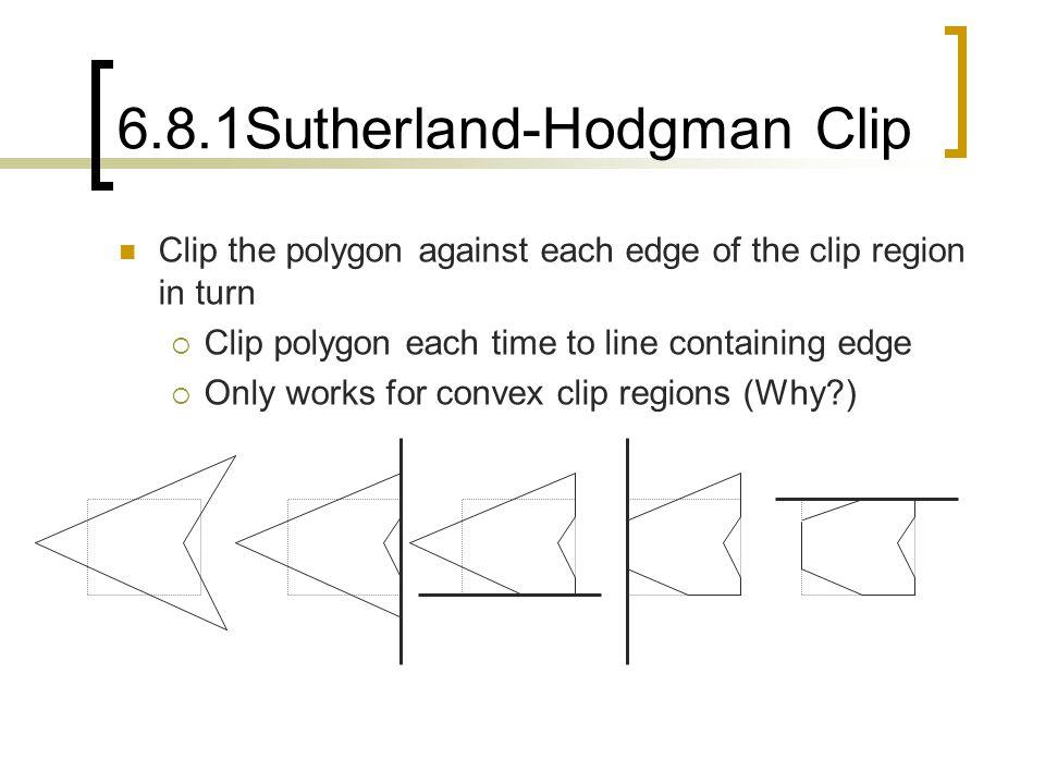 6.8.1Sutherland-Hodgman Clip
