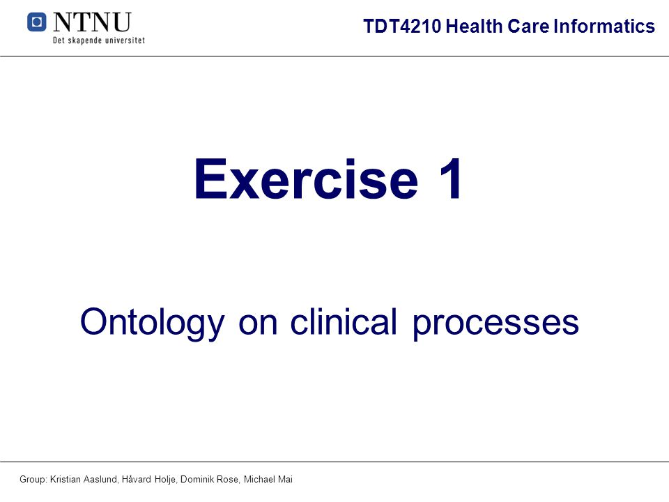 Ontology on clinical processes