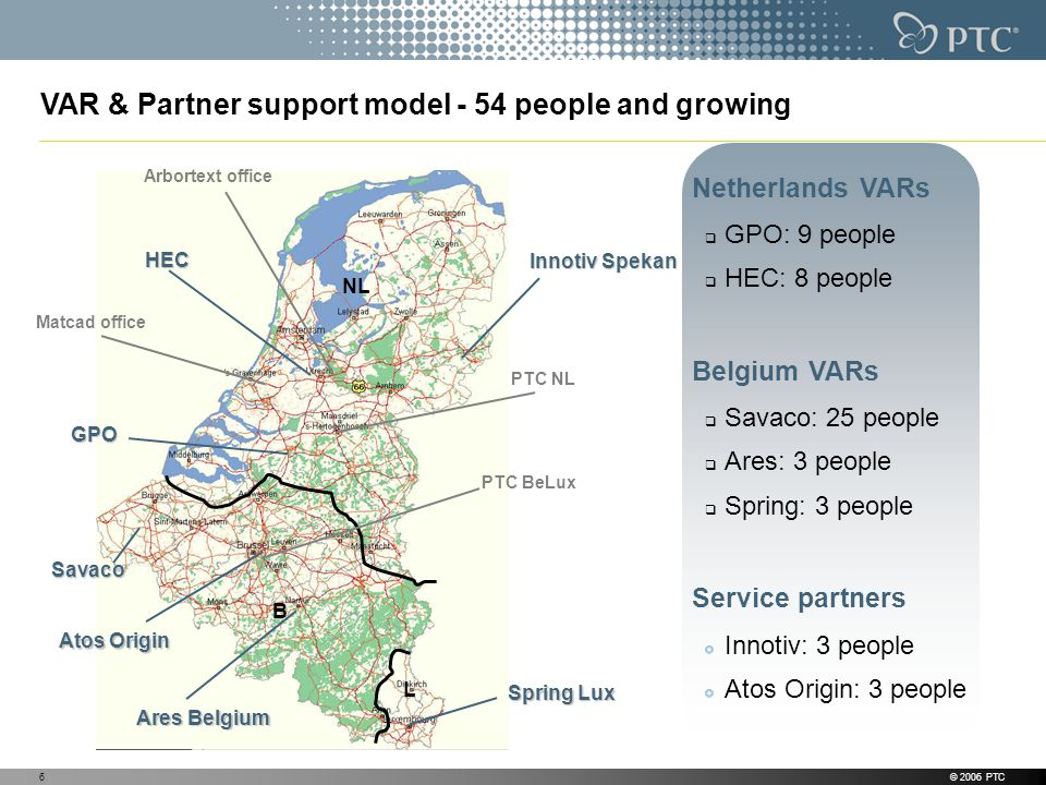 VAR & Partner support model - 54 people and growing