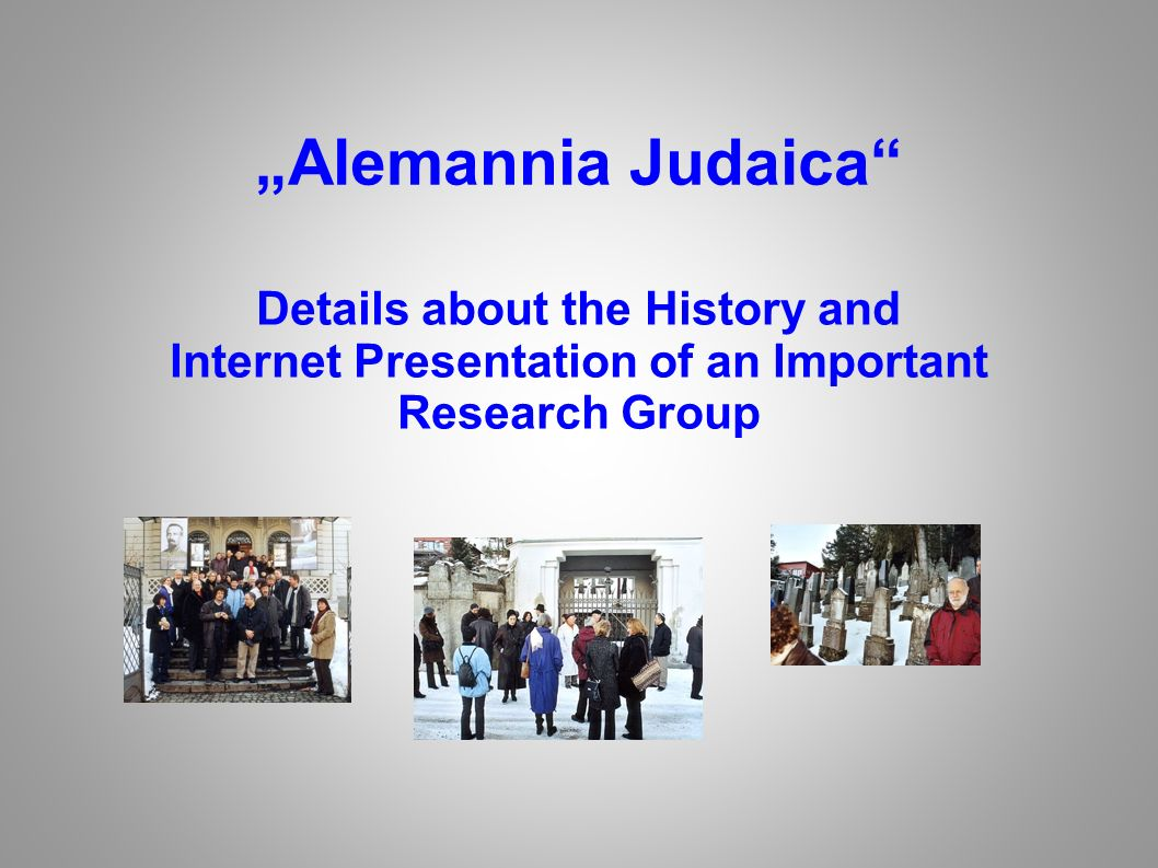 Details about the History and Internet Presentation of an Important