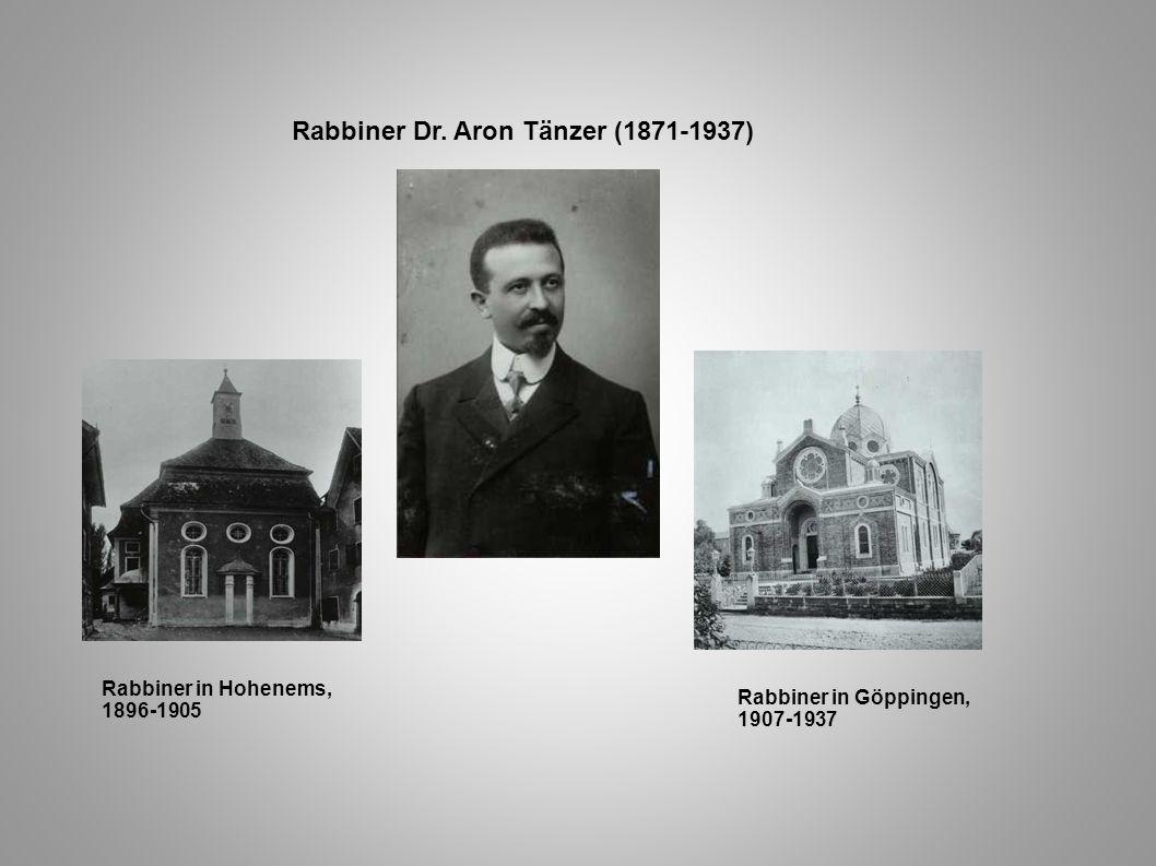 Rabbiner Dr. Aron Tänzer (1871-1937)