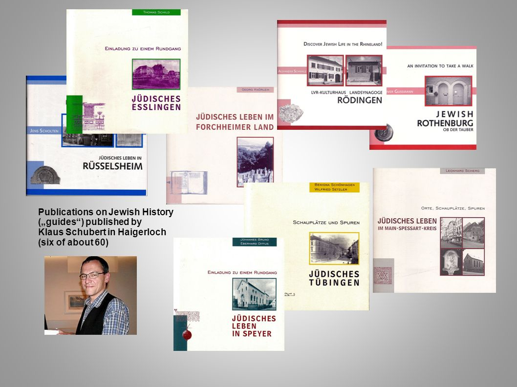 """Publications on Jewish History (""""guides ) published by"""