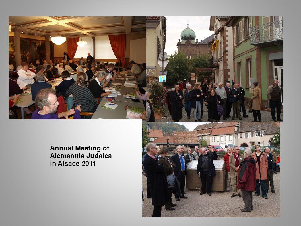 Annual Meeting of Alemannia Judaica