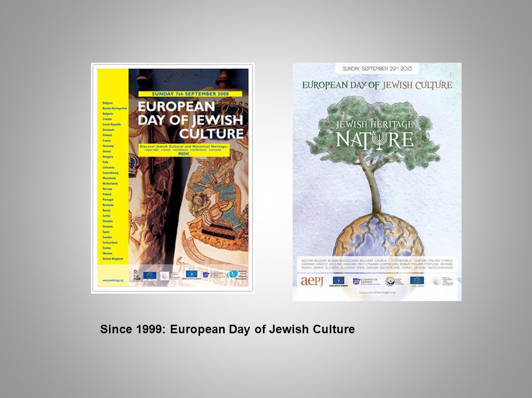 Since 1999: European Day of Jewish Culture