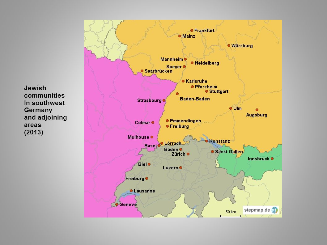 Jewish communities In southwest Germany and adjoining areas (2013)