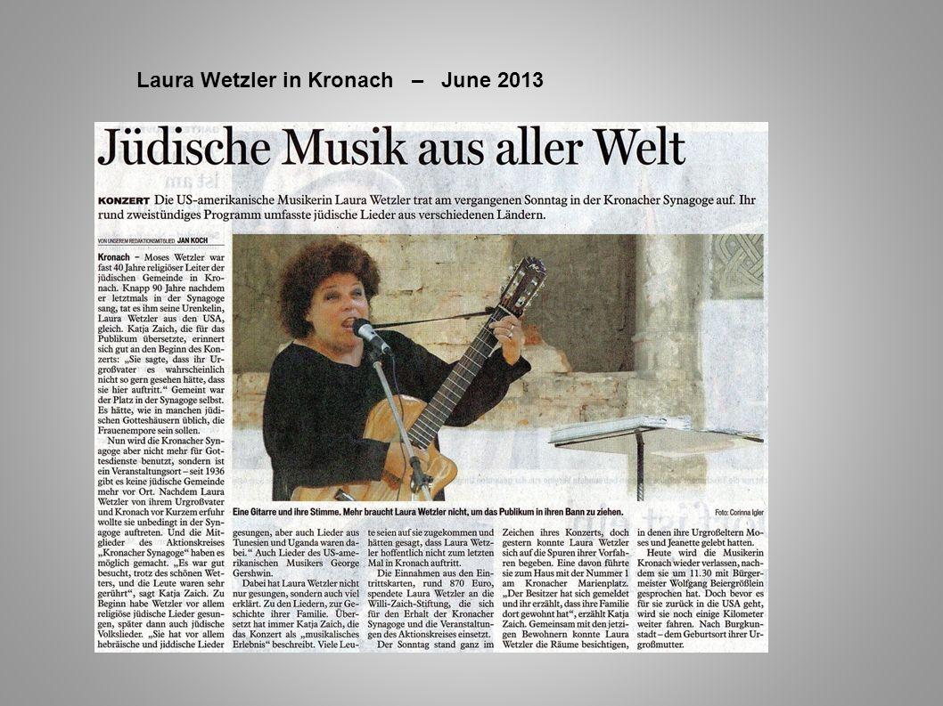 Laura Wetzler in Kronach – June 2013